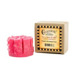 Candele profumate Candleberry color rosa  Fresh Strawberries Cake Tart online - Prezzo:   7.63 €
