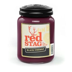 Candele profumate Candleberry color rosso  Jim Beam Red Stag Black Cherry Large Jar online - Prezzo:   34.90 €