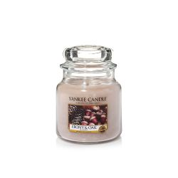 Candele profumate Yankee Candle color beige  Ebony & Oak Medium Jar online - Prezzo:   24.90 €