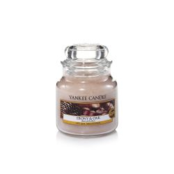 Candele profumate Yankee Candle color beige  Ebony & Oak Small Jar online - Prezzo:   11.90 €