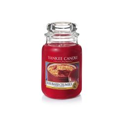 Candele profumate Yankee Candle color rosso  Rhubarb Crumble Large Jar online - Prezzo:   29.90 €