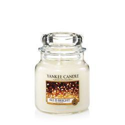 Candele profumate Yankee Candle color bianco  All Is Bright Medium Jar online - Prezzo:   24.90 €