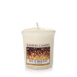 Candele profumate Yankee Candle color bianco  All Is Bright Votive Candle online - Prezzo:   2.65 €