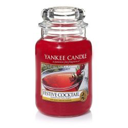Candele profumate Yankee Candle color rosso  Festive Cocktail Large Jar online - Prezzo:   29.90 €