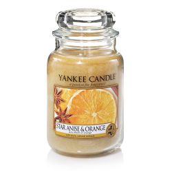 Candele profumate Yankee Candle color beige  Star Anise & Orange Large Jar online - Prezzo:   29.90 €