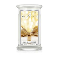 Candele profumate Kringle color bianco  Gold & Cashmere Large Jar online - Prezzo:   24.75 €