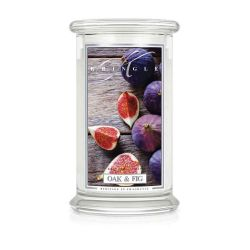 Candele profumate Kringle color bianco  Oak & Fig Large Jar online scontato del 20% - Prezzo:   24.75 €