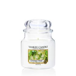 Candele profumate Yankee Candle color bianco  Linden Tree Medium Jar online - Prezzo:   24.90 €