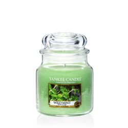 Candele profumate Yankee Candle color verde  Wild Mint Medium Jar online - Prezzo:   24.90 €