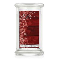 Candele profumate Kringle Candle color bianco  Frosted Mahogany Large Jar online - Prezzo:   30.90 €