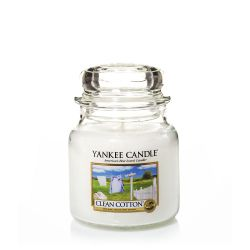 Candele profumate Yankee Candle color bianco  Clean Cotton Medium Jar online - Prezzo:   24.90 €