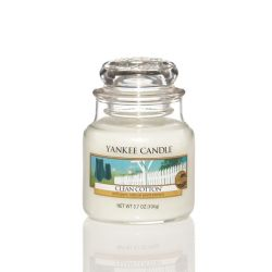 Candele profumate Yankee Candle color bianco  Clean Cotton Small Jar online - Prezzo:   11.90 €