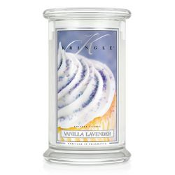 Candele profumate Kringle Candle color bianco  Vanilla Lavender Large Jar online - Prezzo:   30.90 €