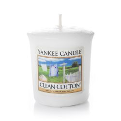 Candele profumate Yankee Candle color bianco  Clean Cotton Votive Candle online - Prezzo:   2.65 €