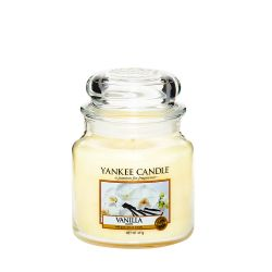 Candele profumate Yankee Candle color bianco  Vanilla Medium Jar online - Prezzo:   24.90 €