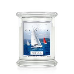 Candele profumate Kringle color bianco  Set Sail Medium Jar online - Prezzo:   20.21 €