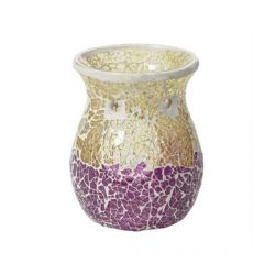 Accessori Yankee Candle color rosa  Purple & Gold Crackle Bruciatore online - Prezzo:   11.25 €