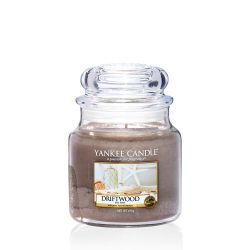 Candele profumate Yankee Candle color beige  Driftwood Medium Jar online scontato del % - Prezzo:   24.90 €