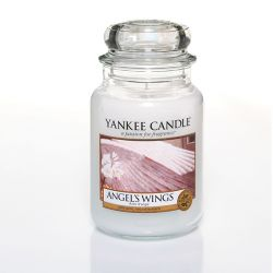 Giare grandi Yankee Candle  color bianco  Angel's Wings Large Jar online - Prezzo:   29.90 €