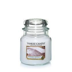 Candele profumate Yankee Candle color bianco  Angel's Wings Medium Jar online - Prezzo:   24.90 €