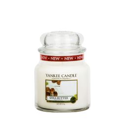 Candele profumate Yankee Candle color bianco  Shea Butter Medium Jar online - Prezzo:   24.90 €
