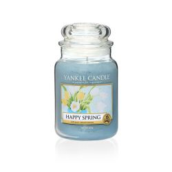Candele profumate Yankee Candle color azzurro  Happy Spring Large Jar online - Prezzo:   29.90 €