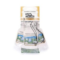 Yankee Candle per auto  color bianco  Clean Cotton Car Jar TRIO PACK  online - Prezzo:   5.99 €