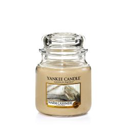 Candele profumate Yankee Candle color beige  Warm Cashmere Medium Jar online - Prezzo:   24.90 €