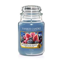 Candele profumate Yankee Candle color blu  Mulberry & Fig Delight Large Jar online - Prezzo:   22.43 €