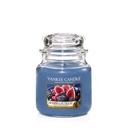 Candele profumate Yankee Candle color blu  Mulberry & Fig Delight Medium Jar online - Prezzo:   18.68 €