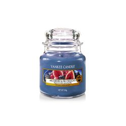 Candele profumate Yankee Candle color blu  Mulberry & Fig Delight Small Jar online - Prezzo:   11.90 €