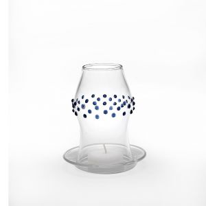 Accessori Zafferano color trasparente  Hurricane porta tea light pois blu online - Prezzo:   18.50 €