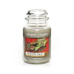 Candele Profumate Yankee Candle color verde  Holiday Sage Large Jar online - Prezzo:   20.93 €