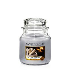 Candele profumate Yankee Candle color grigio  Crackling Wood Fire Medium Jar online - Prezzo:   24.90 €