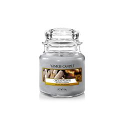 Candele profumate Yankee Candle color grigio  Crackling Wood Fire Small Jar online - Prezzo:   11.90 €