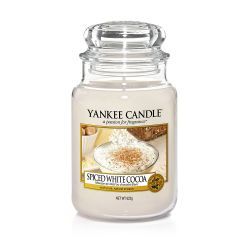 Candele Profumate Yankee Candle color crema  Spiced White Cocoa Large Jar online - Prezzo:   29.90 €