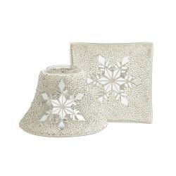 Accessori Yankee Candle color bianco  Large shade&tray Twinkling Snowflake online - Prezzo:   34.99 €