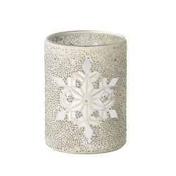 Accessori Yankee Candle color bianco  Large Jar holder Twinkling Snowflake online - Prezzo:   31.49 €