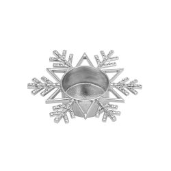 Accessori Yankee Candle color grigio  Tea Light holder Twinkling Snowflake online - Prezzo:   7.49 €