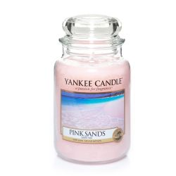 Candele profumate Yankee Candle color rosa  Pink Sands Large Jar online - Prezzo:   29.90 €