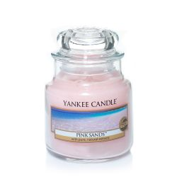 Candele profumate Yankee Candle color rosa  Pink Sands Small Jar online - Prezzo:   11.90 €