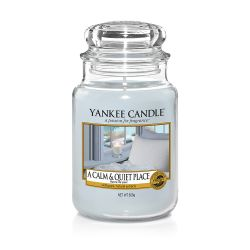 Candele profumate Yankee Candle color azzurro  A Calm & Quiet Place Large Jar online - Prezzo:   29.90 €