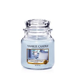 Candele profumate Yankee Candle color azzurro  A Calm & Quiet Place Medium Jar online - Prezzo:   24.90 €