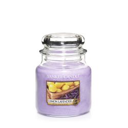 Candele profumate Yankee Candle color viola  Lemon Lavender Medium Jar online - Prezzo:   18.68 €