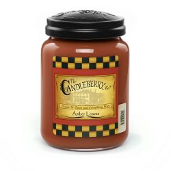 Candele profumate Candleberry color marrone  Amber Leaves Large Jar online - Prezzo:   20.93 €