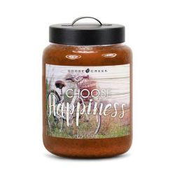 Candele profumate Goose Creek color marrone  CHOOSE HAPPYNESS Apple Cider Large Jar online - Prezzo:   19.53 €