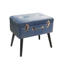 Living Pusher color azzurro  Bauletto Pouff PUSHER online - Prezzo:   69.00 €