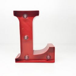 Decorazioni luminose Pusher color rosso  Letterina Luminosa L online - Prezzo:   9.90 €