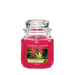 Candele Yankee Candle online  color rosso  Tropical Jungle Medium Jar online - Prezzo:   24.90 €