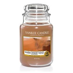 Candele Yankee Candle online  color marrone  Warm Desert Wind Large Jar online - Prezzo:   29.90 €